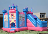 Princess Inflatable Combo, Inflatable Combo Games, 5 in 1 Bouncy Castle Inflatable