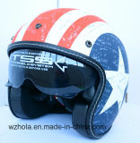 ECE Approved Custom Open Face Motorcycle Vintage Helmet Single Lens