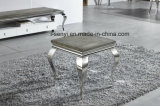 Tempered Glass Top Stainless Steel Sofa Table French Side Table End Table Living Room Furniture