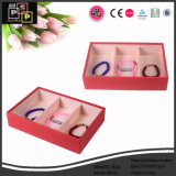 Custom Lovely Pink Leather Jewelry Display Tray (8633)