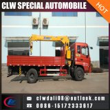 4*2 Truck Mounted Crane, 4tons Truck Mobile Crane with Straight and Folding Arms for Choice Exported to Africa