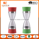 Hot Sale Hourglass Shape Manual Dual Salt and Pepper Grinder