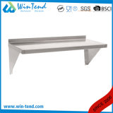 Classic Stainless Steel Kitchen Wall-Mounted Shelf with Backsplash