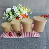 Disposable Compostable Food Container to Go Kraft Paper Hot Soup Cups