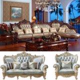 Luxury Italy Leather Sofa with Wood Sofa Frame (807)