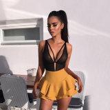 Black Lace Mesh Short Sexy Sundresses