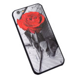 Relief Flowers TPU Phone Case Cover for iPhone X
