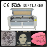 Fast Speed Double Heads Texitle Laser Cutting Machine with Ce FDA