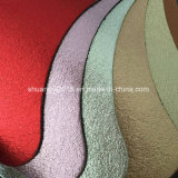 Hot Metal Surface Microfiber Combine Split Leather for Shoes