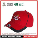 100% Cotton 3D Embroidery Racing Baseball Cap with Piping