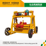 Mobile Concrete Hollow Brick Machine Qt40-3b