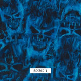 Blue Fire Skull Hydrographics Printing Films, Water Transfer Printing Films, PVA Films,