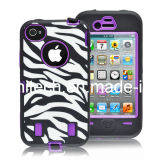 Combo Zebra Pattern Cell Phone Case for iPhone4 4s