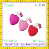 PVC Love Heart Shape USB Flash Drive (GC-H003)
