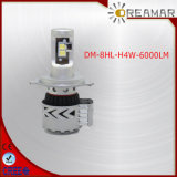 6000lm DC12V-24V 6500k H4 Head Lamp for Car