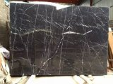 China Black and White, Nero Marquina Marble for Stair Step