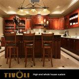 Solid Cherry Kitchen Cabinet Wood Veneer Home Furniture Full House Custom Tivo-048VW
