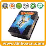 Rectangular DVD Tin Case for Kids, Metal CD Tin Box