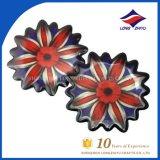 Custom Flower Badge Epoxy Souvenir Badge for Staff Student