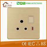 15A Electric Wall Socket Outlet with Saso Certificate