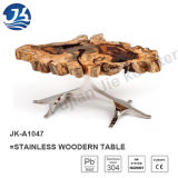 2016 Stainless Wooden Modern Live Edge Coffee Table (JK-A1047)