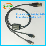 USB to Micro-USB and 8pin Data and Charger Cable Adapter