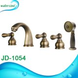 Bronze Waterfall Shower 5holes Dual Handle Bathtub Mixer