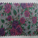 Floral Designs Glitter Leather for Package Hw-473