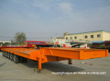 3 Axle 13 Meters Low Bed Flatbed Semitrailer