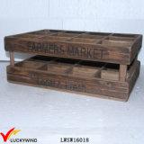 Reclaimed Fir Vintage Storage 12 Bottle Wooden Wine Box