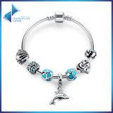 Trendy Pendant Bracelet Women & Blue Beads Heart Charm Cute Dolphin Bangles