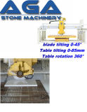 Miter 45 Degree Cutting Saw Machine for Granite Marble Kitchentops Countertops Fabrication Hq700