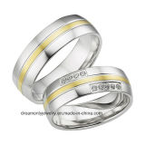 Two Colors Wedding Ring Gold Finger Ring