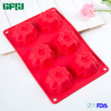 Factory Supplier Flexible Food Grade Silicone Cake Sheet Flower Shaped