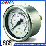 Half Stainless Steel Oil Filled Fuel Pressure Gauges