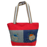 Promotional Shopping Canvas Tote Bag with Embroidery Logos
