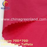Waterproof Nylon Plaid Fabric for Sportwear Textile (GLLML357)