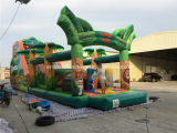 Hot Selling Safari Park Theme Jungle Inflatable Obstacle Course