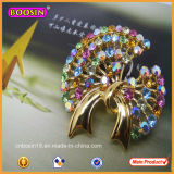 Beautiful Elegant Gold Jewellry Rhinestone Brooch for Youth