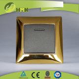Ce/TUV/BV Certified European Standard Metal Zinc Wall Switch