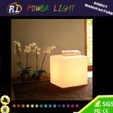 Lighting LED Cube Colorful PE Stool Furniture