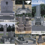 Granite Stone Monument / Tombstone with Custom Design - T33
