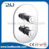 Copper Chrome Twin (Concealed) Thermostatic Shower Valve with Oval Plate