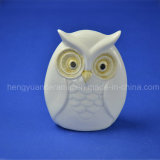 Ceramic Gifts Lovely Owl White Glazed Home Decoration