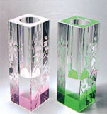 Wholesale Colored Crystal Glass Vases (15044)