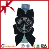 Customized Black Velvet Christmas Pre Tied Bow