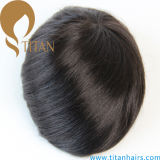 Hot Selling Thin Poly Base Remy Human Hair Toupee