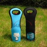 Custom Tote Neoprene Wine Bottle Holder Cooler Bag (BC0028)