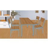 Best Selling Wood Square Table and Chair for Restaurant