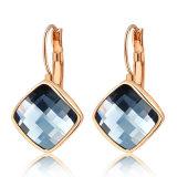 Hook Back Grey Square Crystal Trendy Women Jewelry Earring
